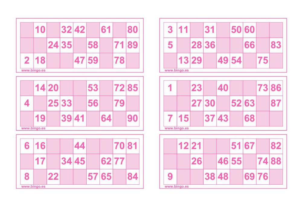 Bingos Para Imprimir Educación Primaria Bingo Para Imprimir Cartones De Bingo Cartas De Bingo