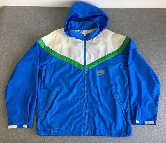 82e476bb51959 NIKE WINDBREAKER Jacket 70s/80's Vintage/ RARE! Original Full Zip ...