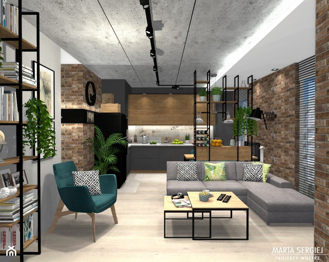 Sredni Salon Z Kuchnia Aranzacje Pomysly Inspiracje Homebook Sweet Home Home Living Room Designs