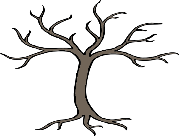 cartoon trees with branches | Tree With 3 Branches clip art - vector clip art online, royalty free ...