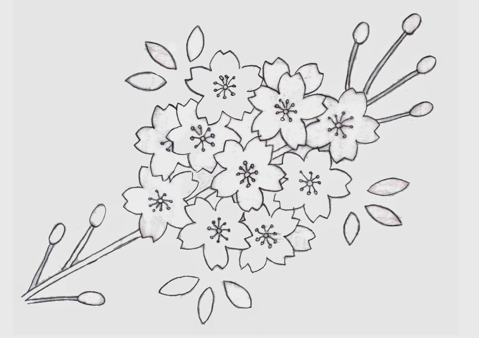 Ulla's Quilt World: Flower quilt blanket and pillowcase, Cherry blossom