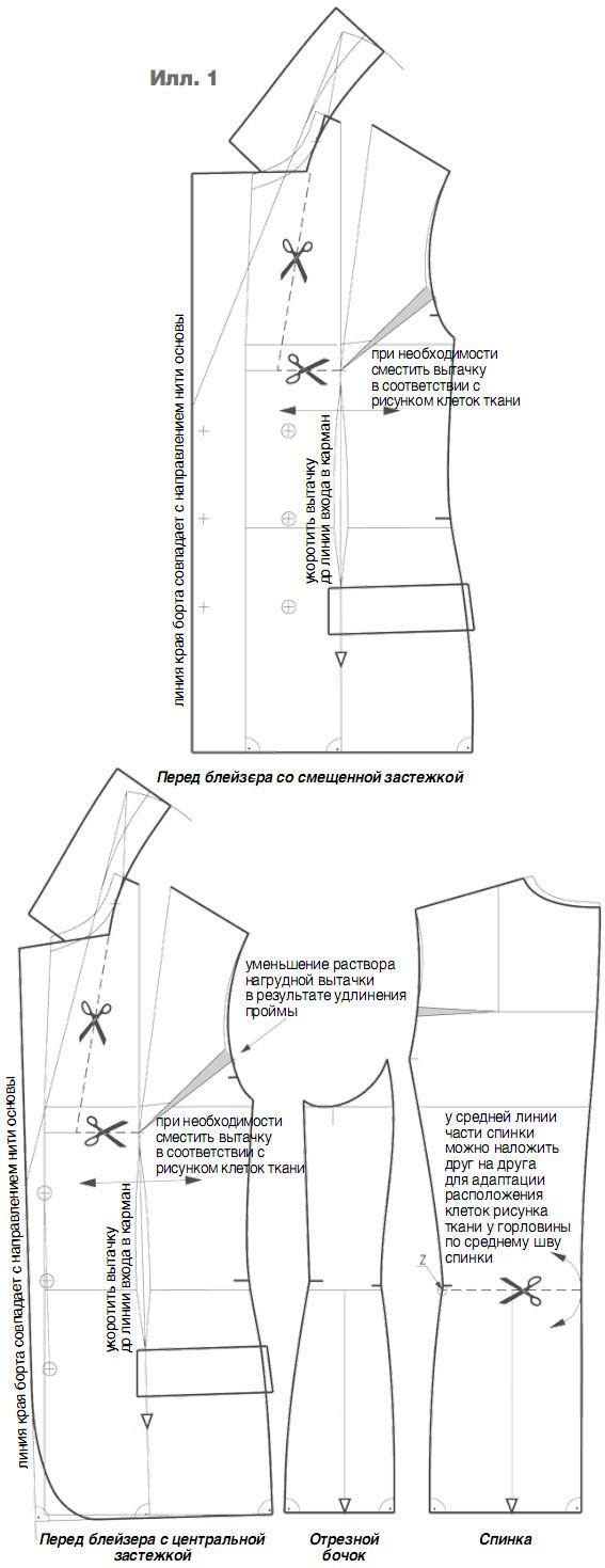 Жакет из ткани в клетку, особенности конструирования | chaquetas ...