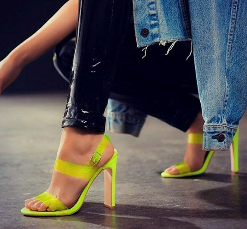 4aaebe8e61d Sexy New Women Transparent PVC Sandals Green Neon Fashion High Heels Summer  2019  SexyNewChina  Gladiator  Party