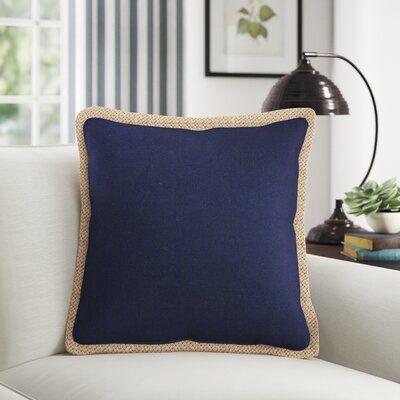 Birch Lane Heritage Lake Geneva Cotton Throw Pillow Throw Pillows Navy Blue Throw Pillows Blue Throw Pillows