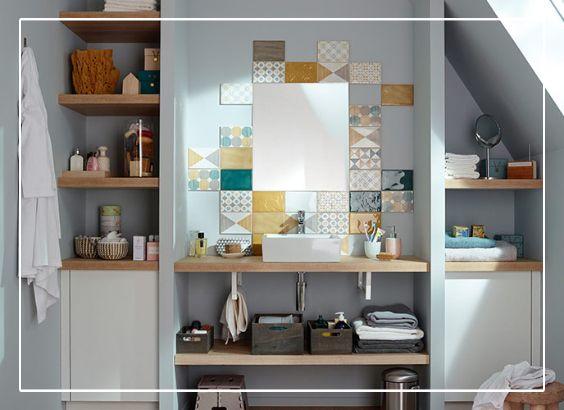 Sublimez votre salle de bain avec ce plan de toilette décor chêne ...