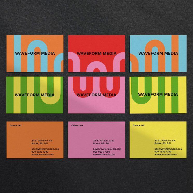 Waveform Media Business Card Business Card Design Inspiration Media Business Cards Business Card Inspiration Music Business Cards