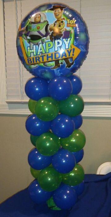 Centros de mesa de buzz lightyear con globos fiestas - Centros de mesa con globos ...