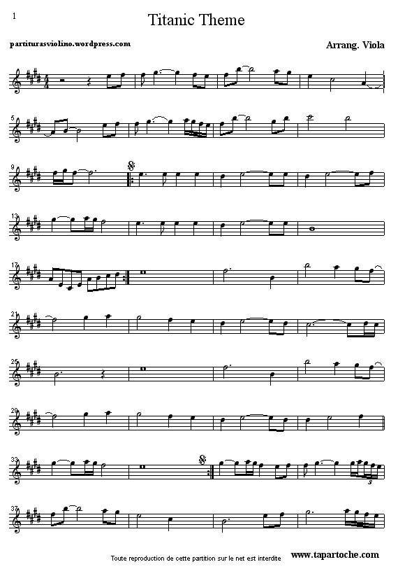 partituras de violino msica de temas de filmes