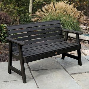 Pin By Ruby On Black Garden Plastic Garden Bench Synthetic Wood