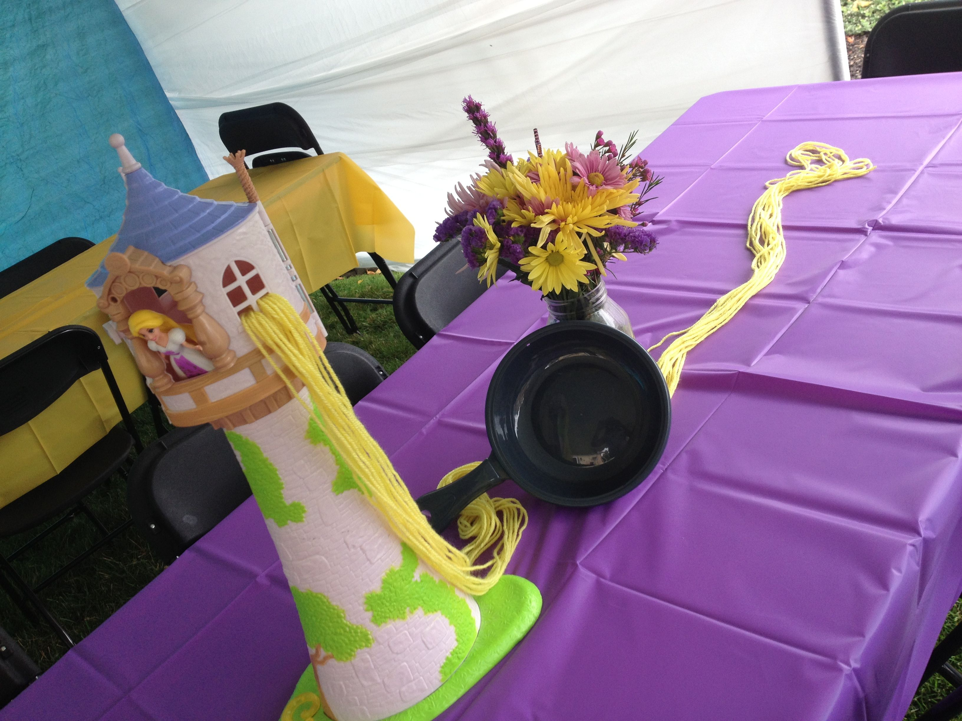 Rapunzel centerpiece birthday party ideas pinterest