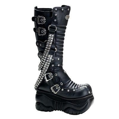 Demonia BOXER-206 Mens Cyber Gothic Platform Boots - Demonia Shoes -  SinisterSoles.com