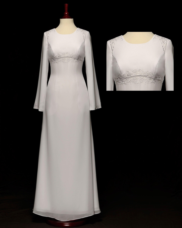 024 Kristen Great Temple Dress Or Modest Wedding Dress