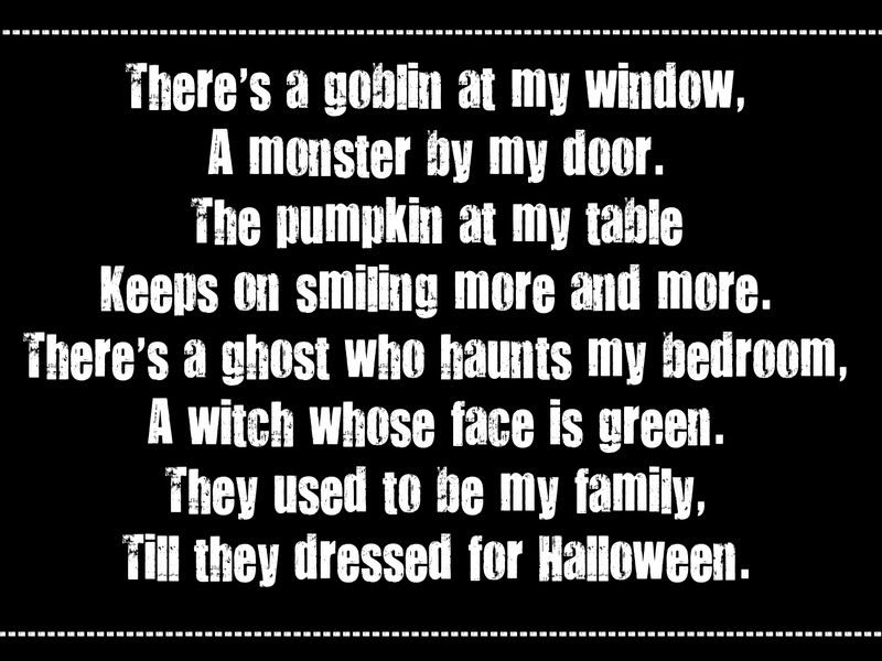 Cute Halloween Poems | Thursday, September 8, 2011