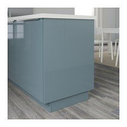 Best Kallarp Cover Panel High Gloss Gray Turquoise Duane In 640 x 480