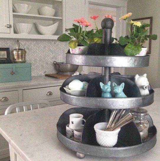 Home Farmhouse Hardware Tiered Tray Eclectic Home