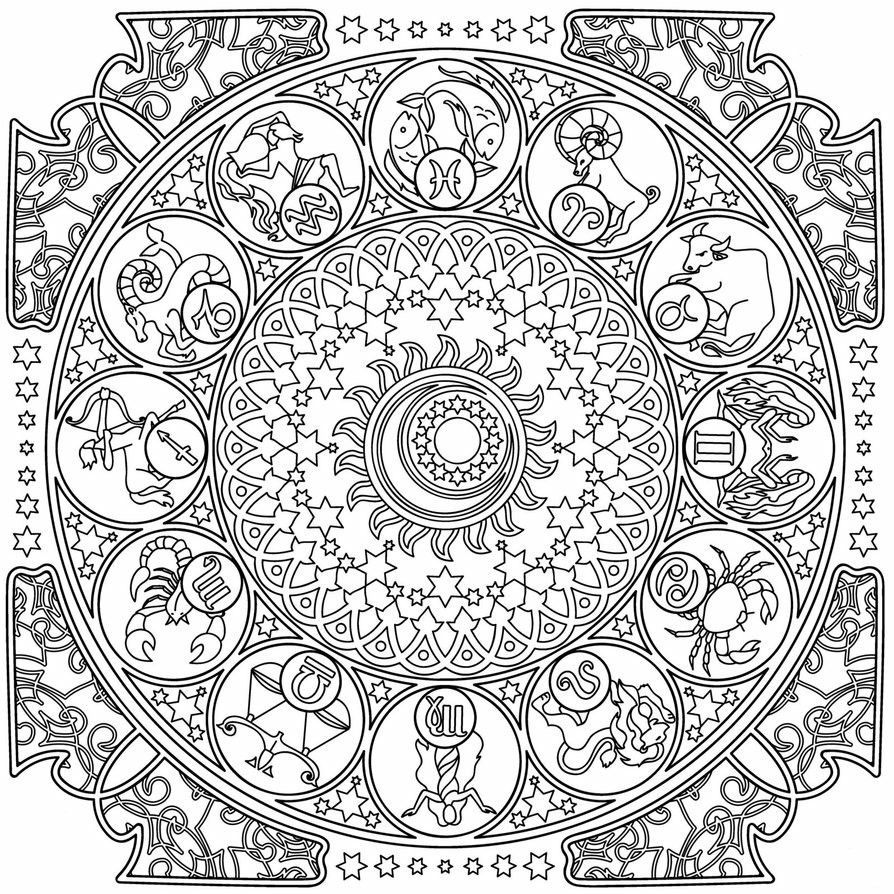 Zodiac Coloring Pages #coloringsheets