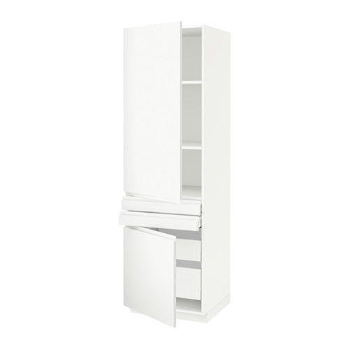 IKEA METOD/MAXIMERA Hi Cab W Shlvs/4 Drwrs/2 Drs/2 Frnt