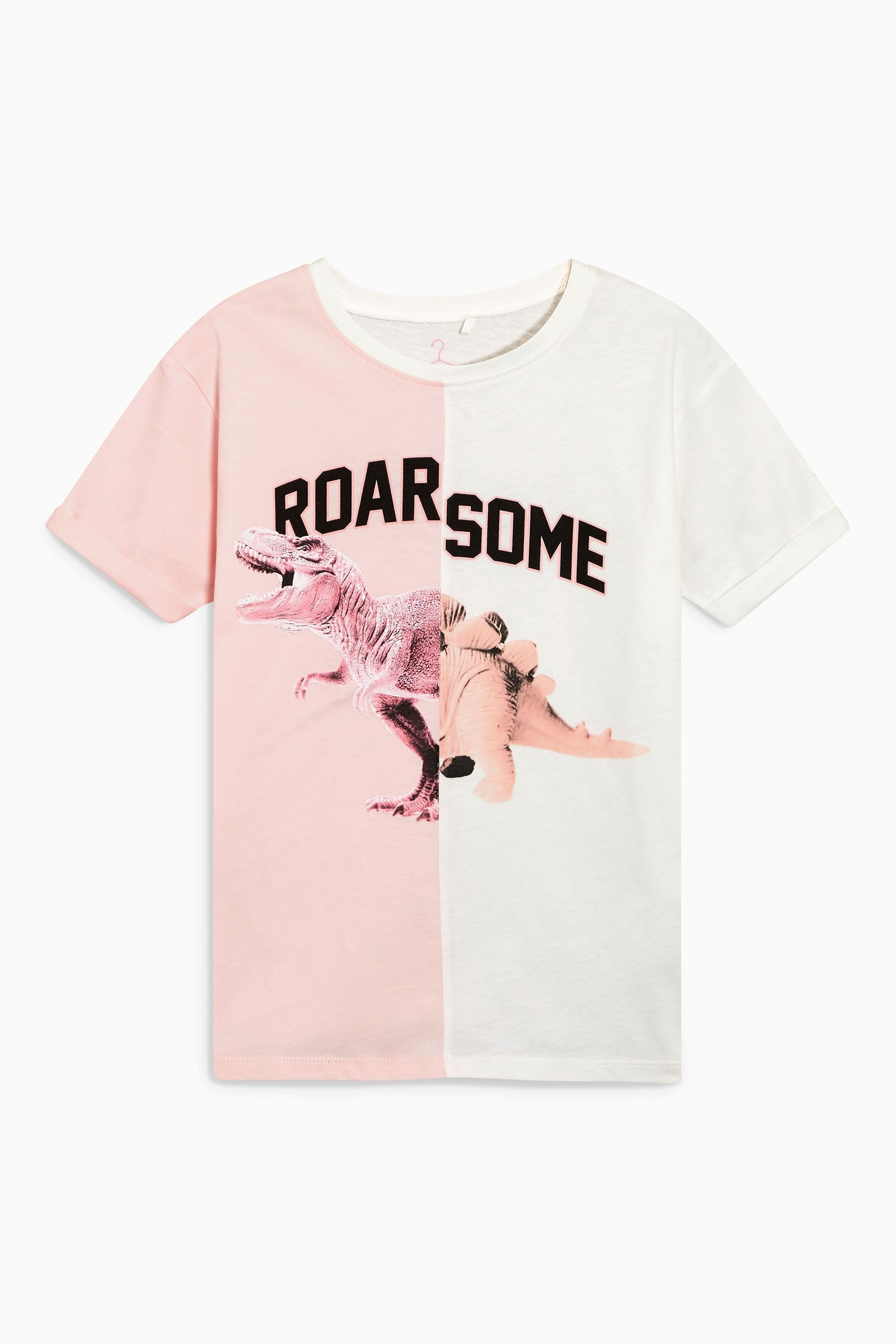 Buy White Roarsome Spliced T-Shirt (3-16yrs) from Next Brazil
