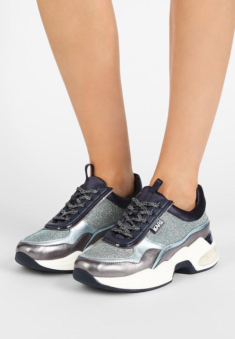 Karl Lagerfeld Lazare Lace Mix Baskets Basses Navy Mix Zalando Fr Zapatos Dama Zapatos Zapatillas Botas De Motociclista