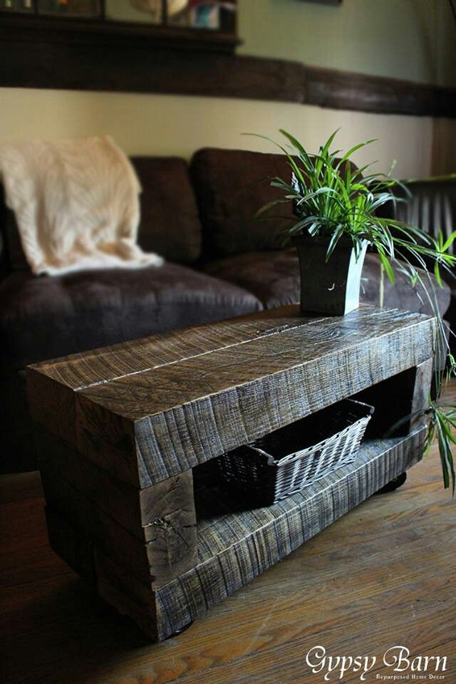 Gorgeous Looks Like Railroad Ties Reclaimed Wood Projects Rustic Furniture Woodworking Furniture