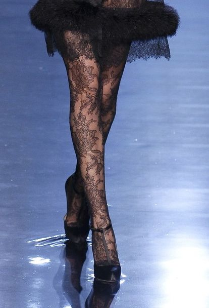 jean paul gaultier-love the lace stockings