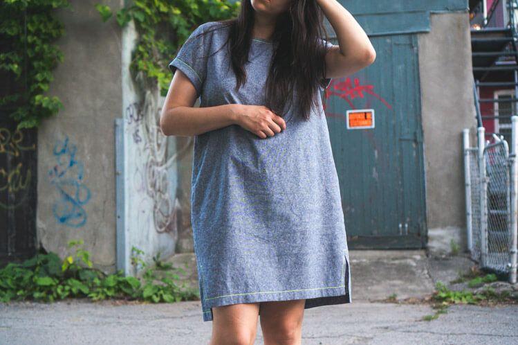SUMMER UNIFORM // INARI TEE DRESS IN LINEN (AGAIN)