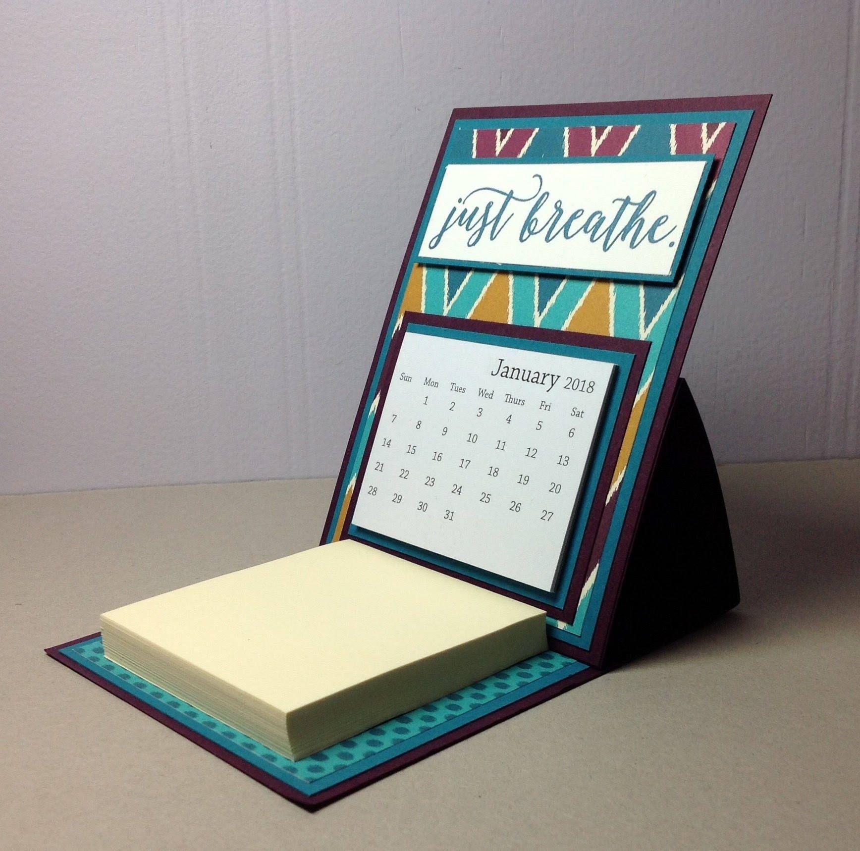Easel Desk Calendar 2018   Just Breathe Calendar   Coworker