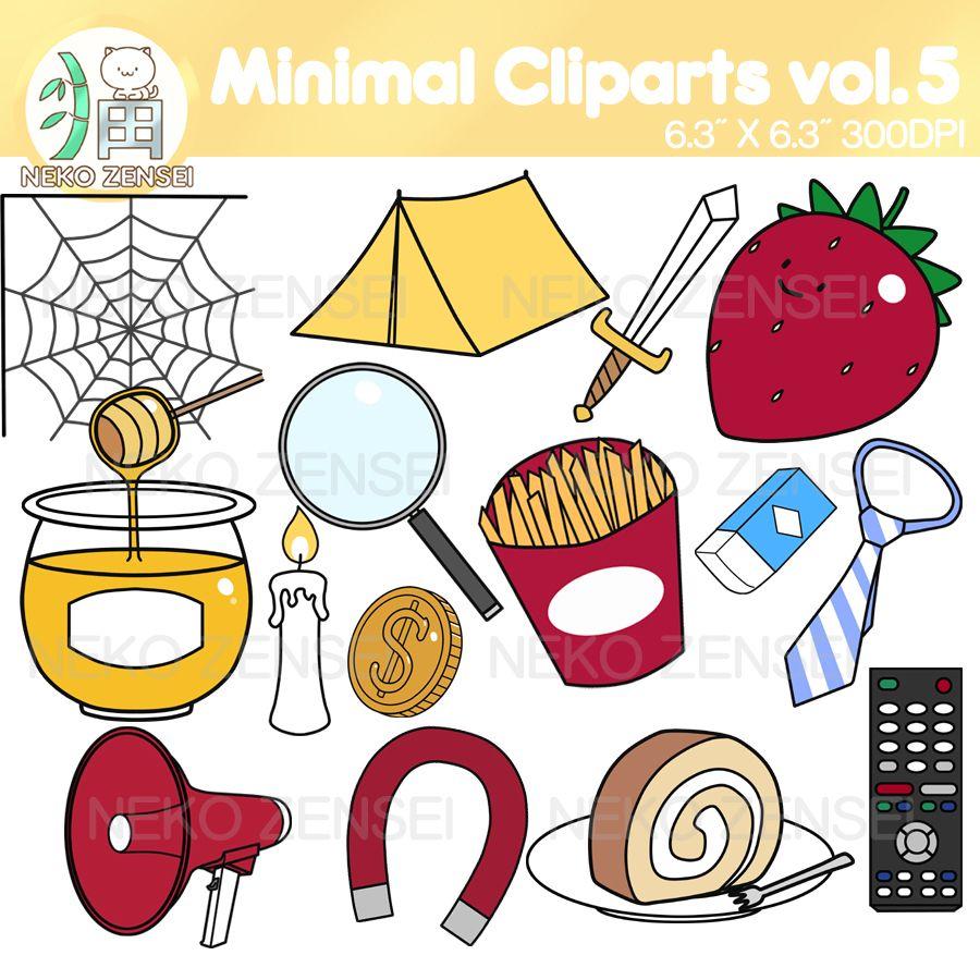 Minimal Cliparts Vol 5 Clip Art Alphabet Clipart Cute Clipart