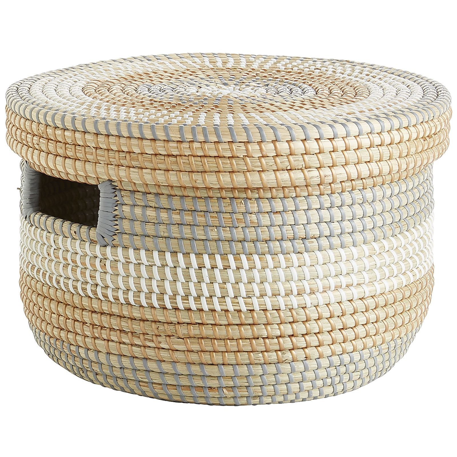 Isla Natural Seagrass Lidded Basket | Traditional baskets ...