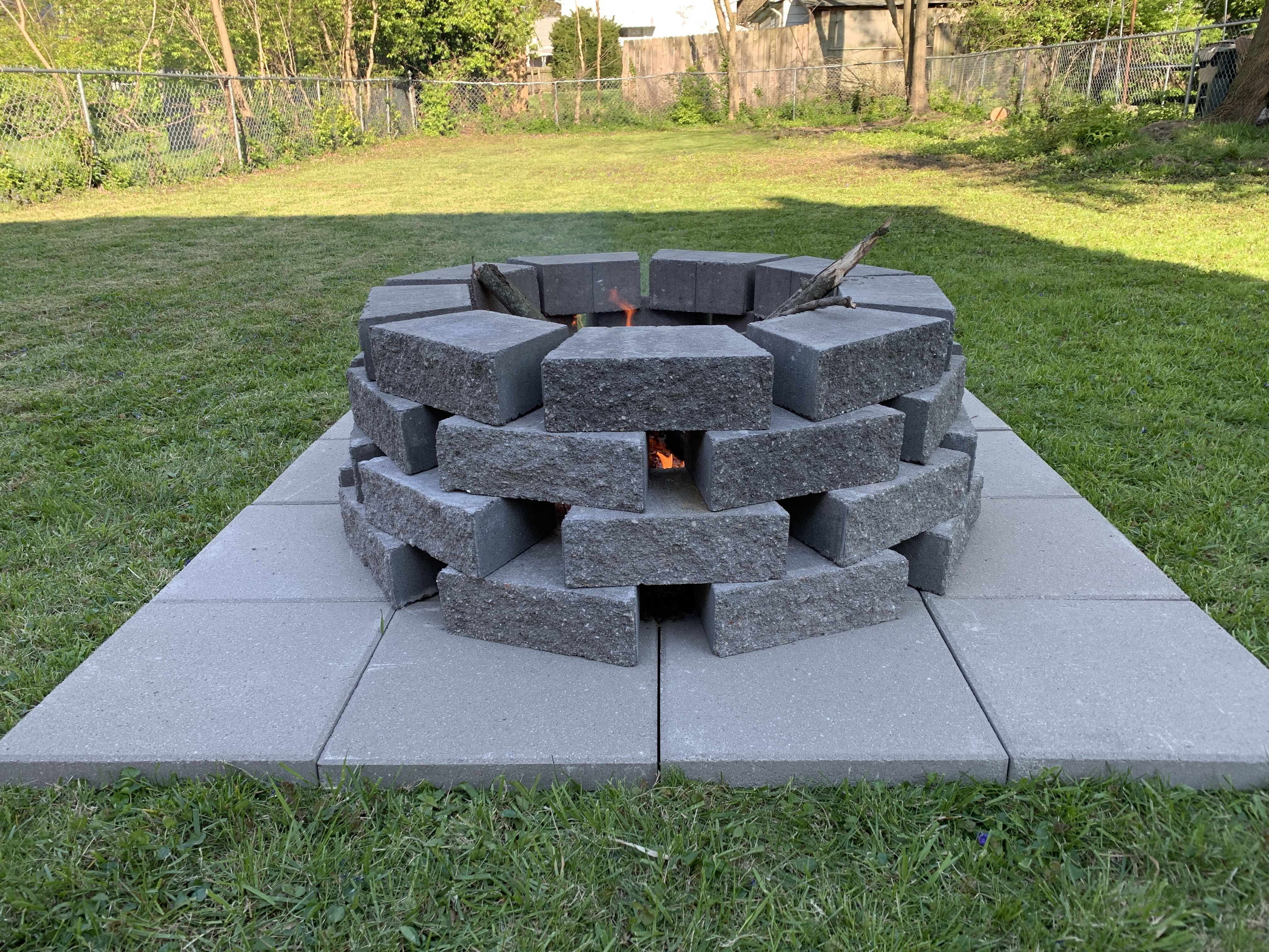 DIY fire pit (no digging) in 2020   Fire pit, Outdoor fire ...