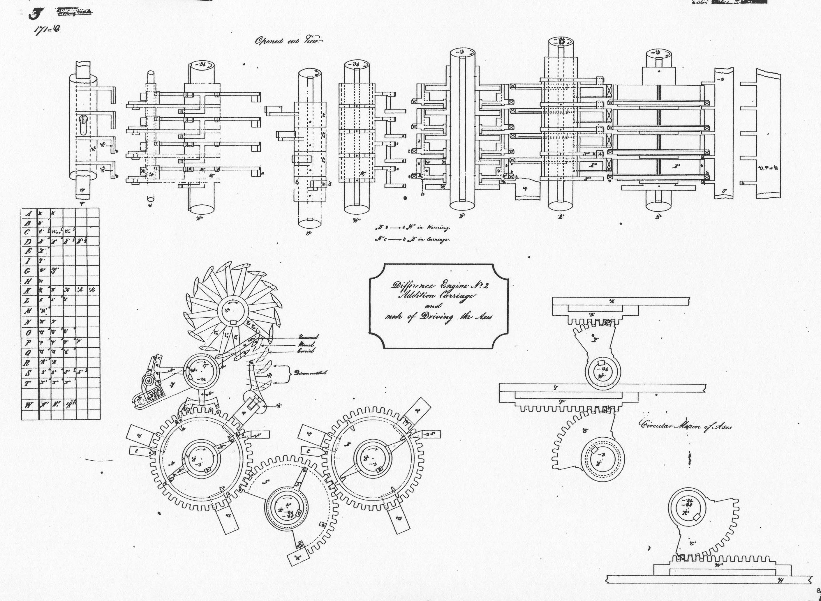 Babbage Schematic In The Lower Left Corner I Would Like