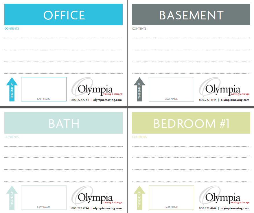 image relating to Printable Moving Labels referred to as Olympia bargains free of charge printable transferring box labels in direction of their