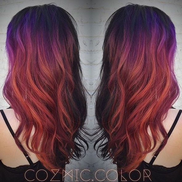 Purple Red Balayage Google Search Red Ombre Hair Hair Inspiration Color Hair Styles