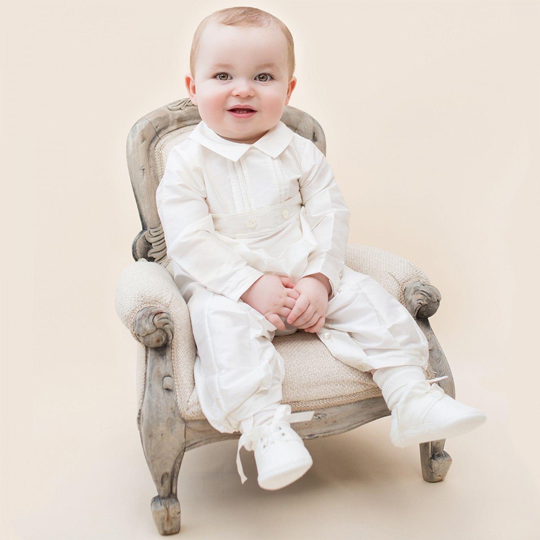 Stephen Silk Baby Boy All in e Ivory