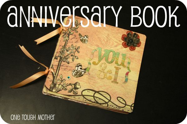 Celebrate a special anniversary with a diy anniversary book to