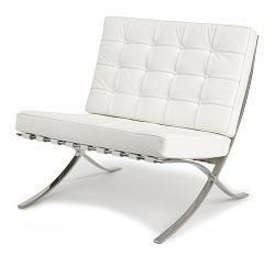 magnifique fauteuil blanc cuir design