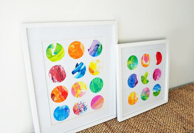 How to make art from your kids finger painting tutorial - very cute idea!