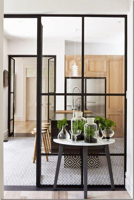 parete vetro cucina - cerca con google | porta ferro e vidro ... - Vetrata Soggiorno Cucina