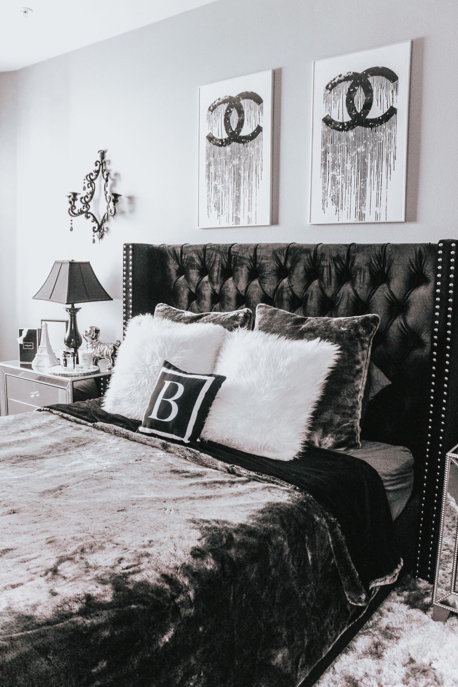 Bedroom Decor Updates Blondie In The City White Bedroom Decor Black Bedroom Decor Grey Bedroom Decor