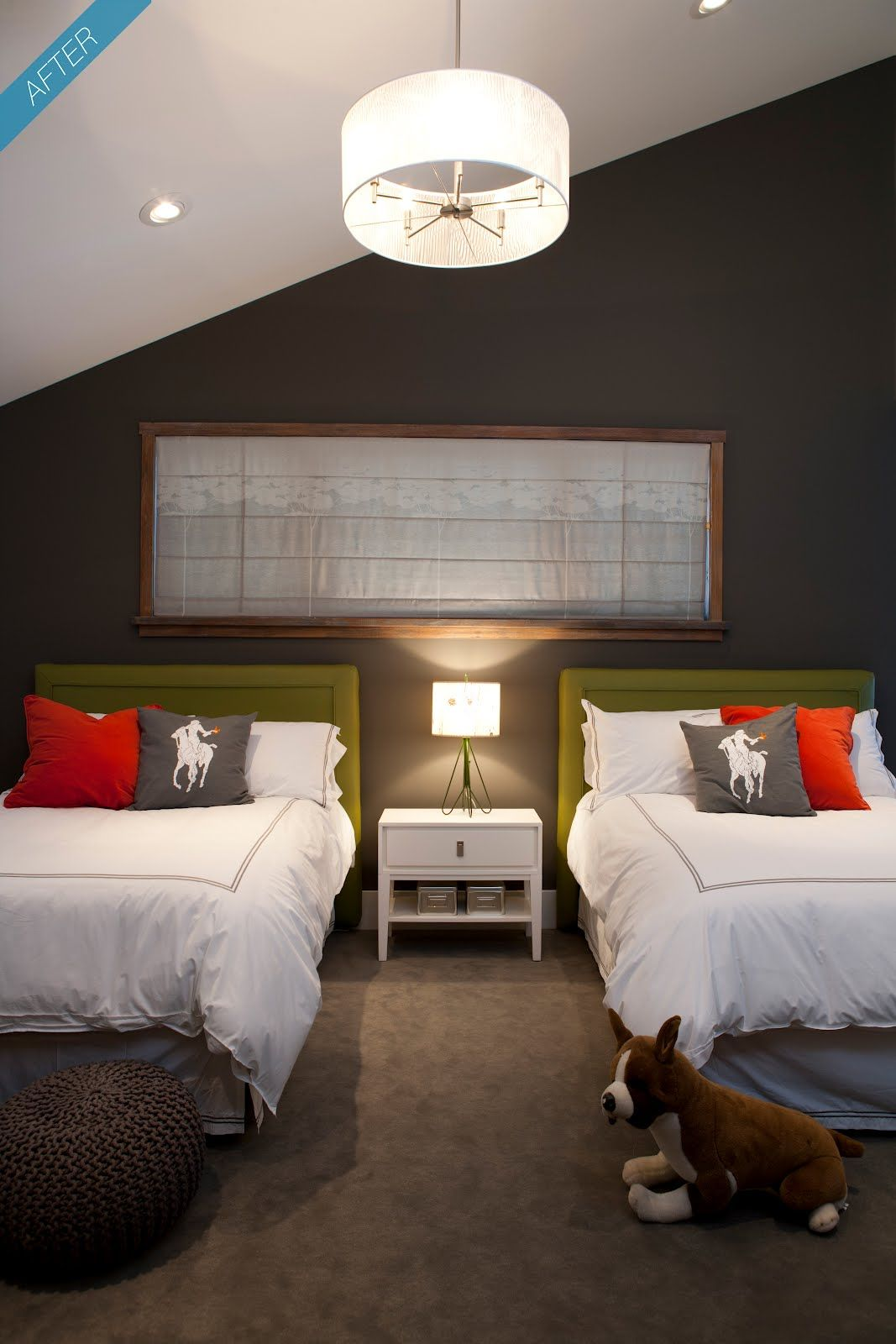 Master bedroom green paint ideas  raenovate boyus bedroom before  after  the boyz room  Pinterest