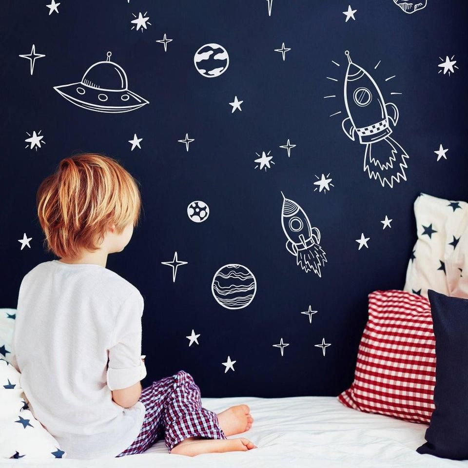 Space Wall Decals Wall Decals Kids Room Playroom