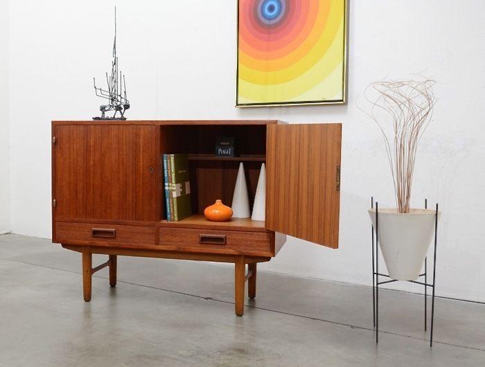 Danish Style Credenza : Danish modern teak borge mogensen style credenza bar cabinet mid