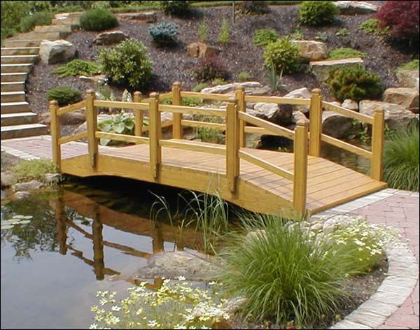Water garden bridge Garden structures Pinterest Pond and Gardens - chinesischer garten brucke