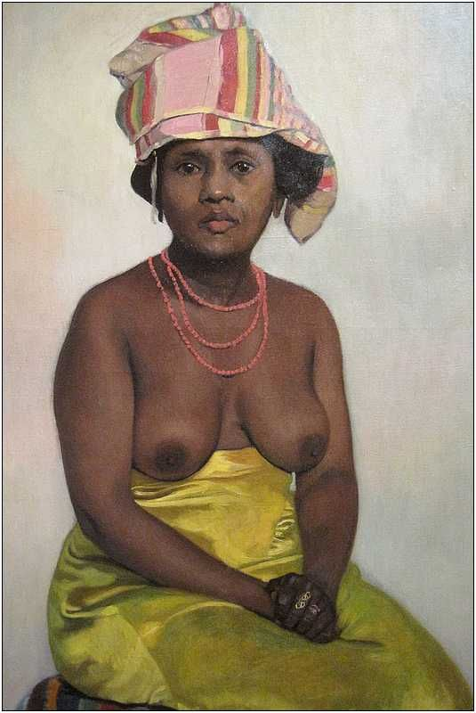 "Femme Nue Africaine peinture suisse : félix vallotton, 1910, ""africaine"", nu, seins"