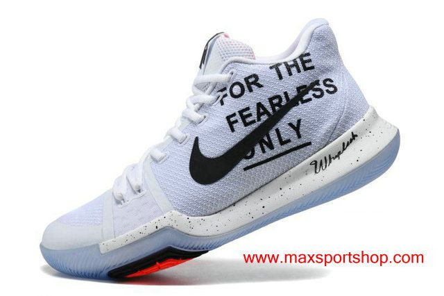 Nike Kyrie 3 iD For The Fearless Only White Men s Basketball Shoes ... 5443d74c7