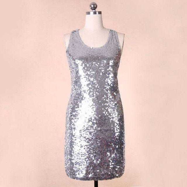 Famous Dress Golden Luxurious Temperament Sequin Summer Dresses