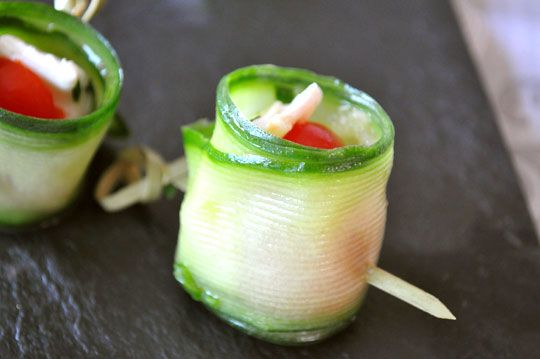 GREAT looking HEALTHY bites for your wedding reception.  These cucumber and goat cheese bites are PERFECT!