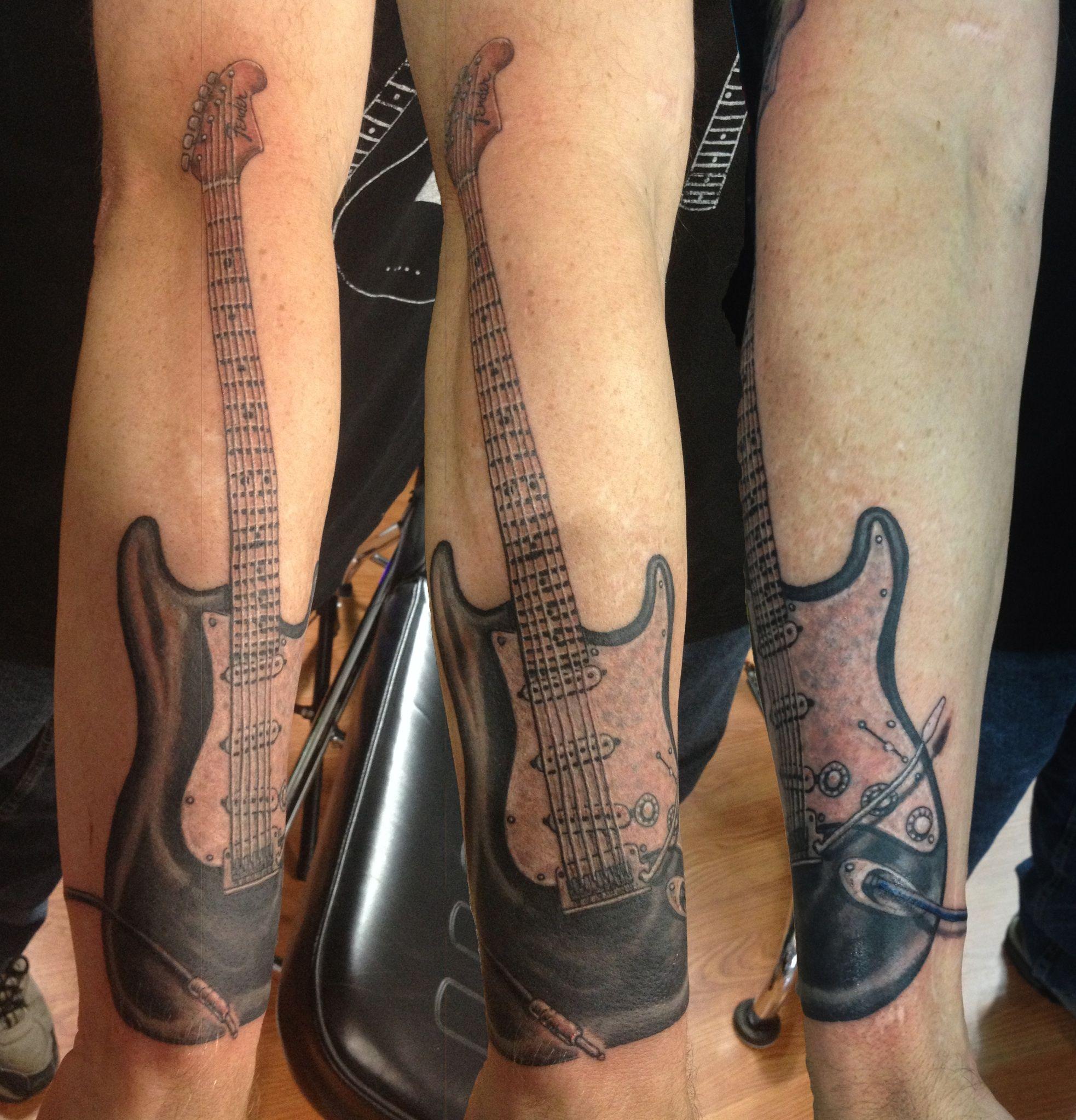Fender guitar tattoo
