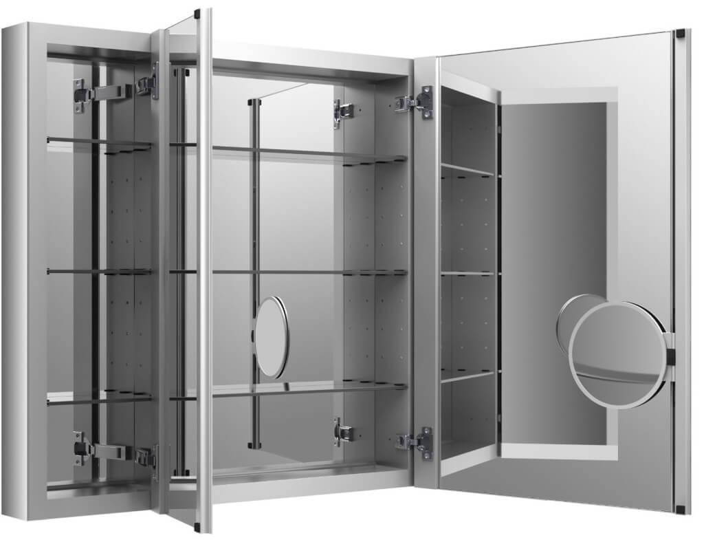 Fresh 3 Way Mirror Medicine Cabinet 66 For Cabinets