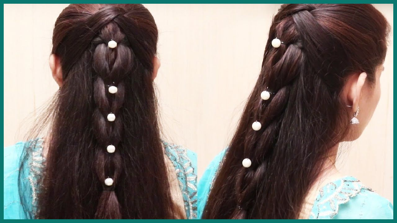 Easy Hairstyle For Long Hair Video Download Step By Step In 2020 Hair Styles Ladies Hair Style Video Long Hair Video